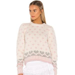 💕Rosie Intarsia Pullover Hearts & Roses Sweater